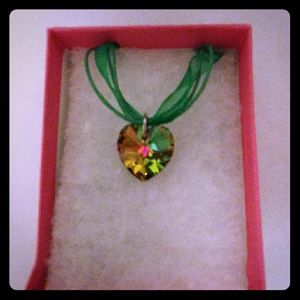 Jewelry - Nature Green Crystal Heart Necklace